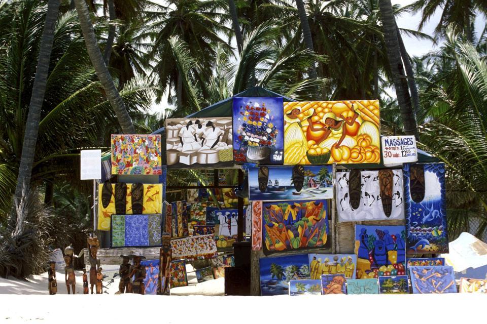 La peinture , Peintures sur la plage , République dominicaine
