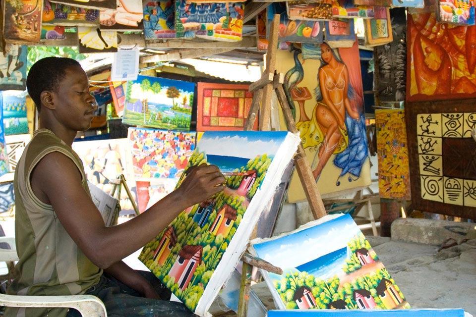 La peinture , Un artiste au travail , République dominicaine