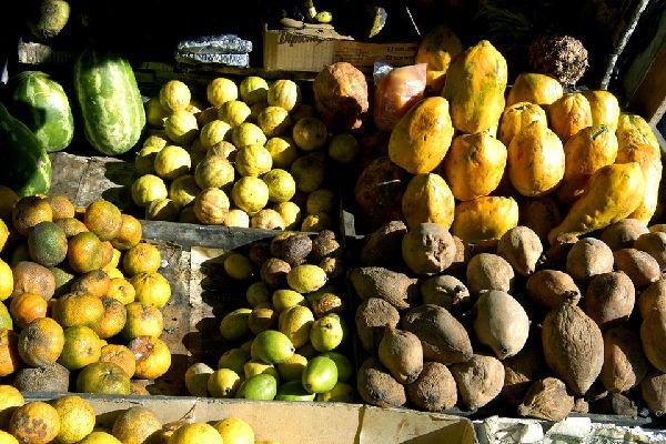 El mercado cubierto, Mercado Modelo , La fruta tropical , República Dominicana