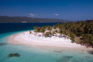 Les îles et les plages, Cayo levantado, ile, île, caraïbes, antilles, amérique, république dominicaine.