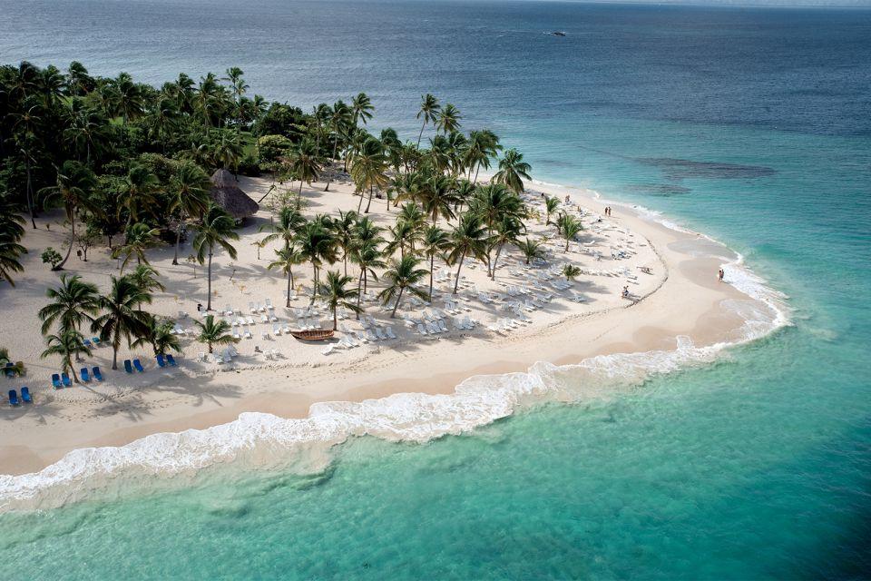 Aerial view, Cayo Levantado in Samana, Islands and beaches, Samana, Dominican Republic