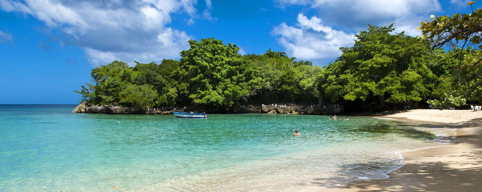 El golfo de Playa Grande, Playa Grande en Río San Juan, Las islas y las playas, República Dominicana