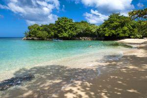 Les îles et les plages, Playa Grande République Dominicaine Caraïbes plage mer sable verdure