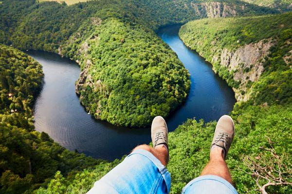 Les paysages, République Tchèque, Tchéquie, randonnée, randonneur, sport, europe, Vltava, bohême, rivière