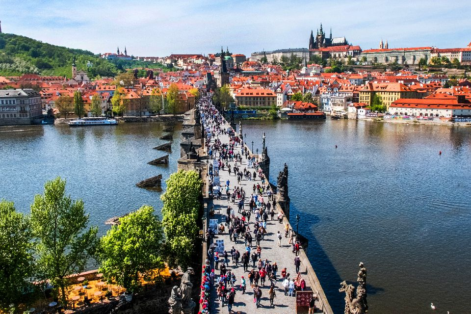 Charles Bridge in Prague , Charles IV and Charles Bridge , Czech Republic