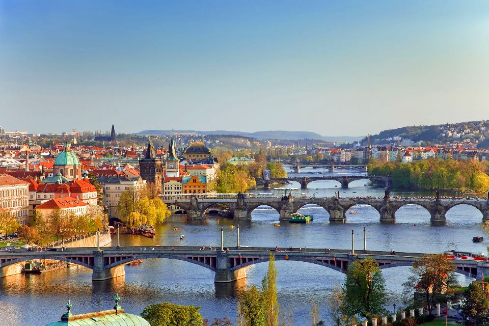 Charles Bridge in Prague , Charles Bridge and Mala Strana , Czech Republic