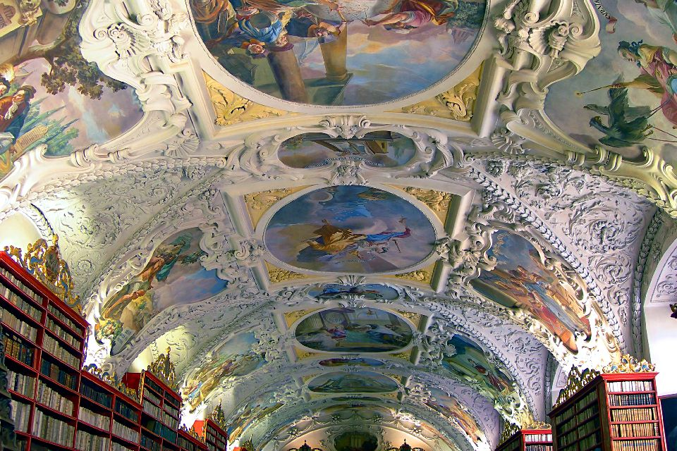Strahov monastery , The paintings on the ceiling , Czech Republic