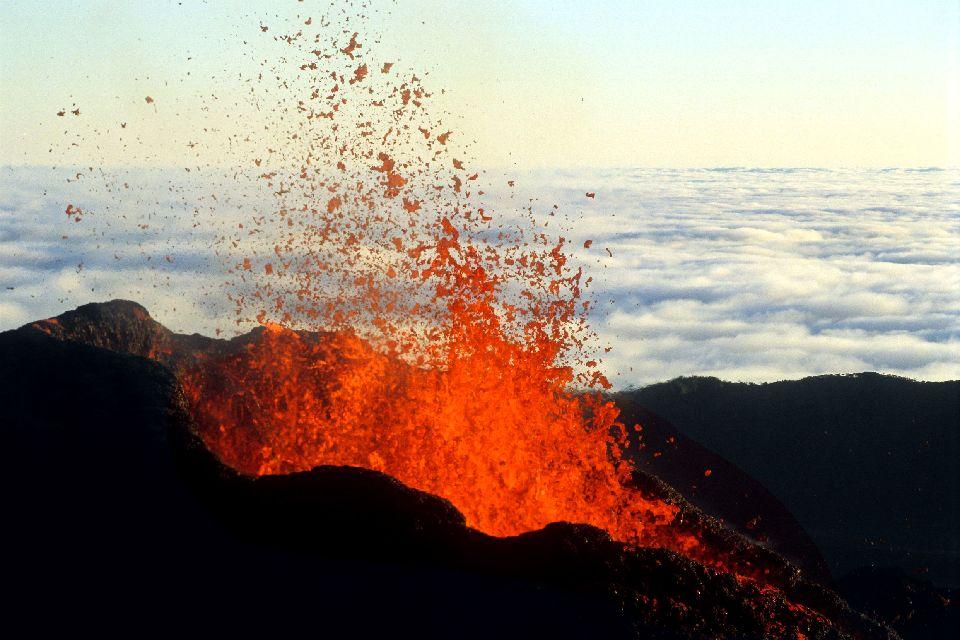 Le piton de la Fournaise , Spectacle de l'éruption , Réunion