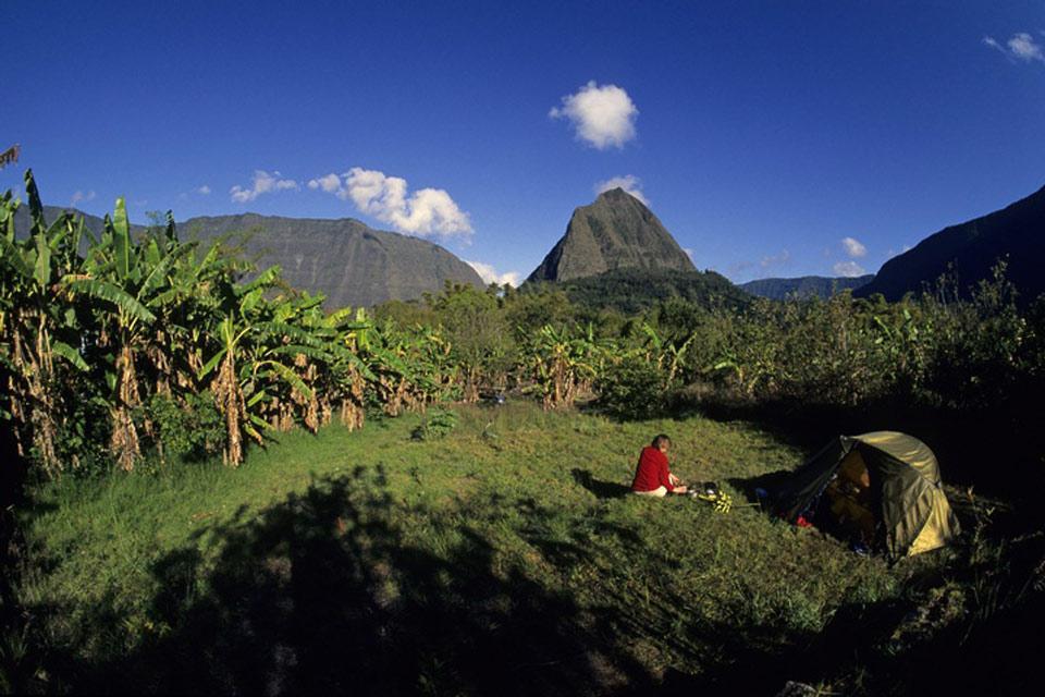 Les paysages, mafate, réunion, île, cirque, océan indien