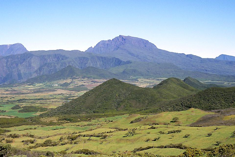 Die endemische Vegetation der Hochebenen ?Hauts? , Endemische Vegetation, Vogelperspektive , Réunion