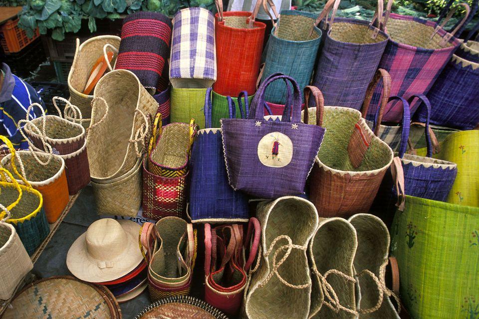 Les arts et la culture, vannerie, sac, marché, artisanat, commerce, réunion, île, mascareignes, océan indien