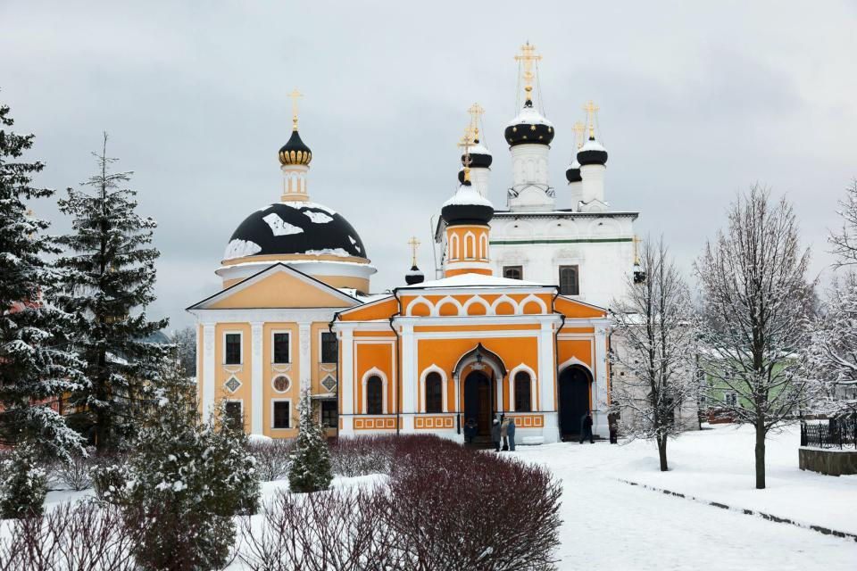Monasteries , An old monastery made of red bricks , Russia