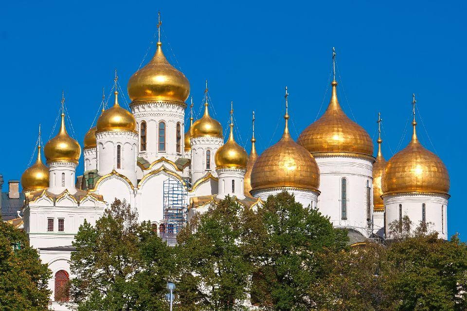 El Kremlin , Cúpulas resplandecientes , Rusia