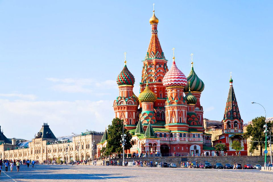 La piazza Rossa , Un'atmosfera fiabesca , Russia
