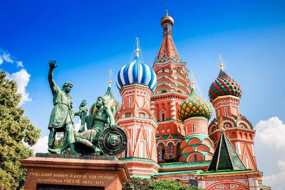 Der Rote Platz , Die Basilius-Kathedrale , Russland