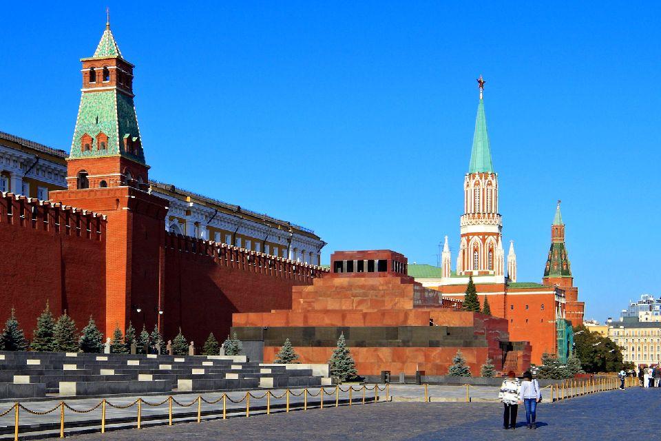 La piazza Rossa , Il mausoleo di Lenin , Russia