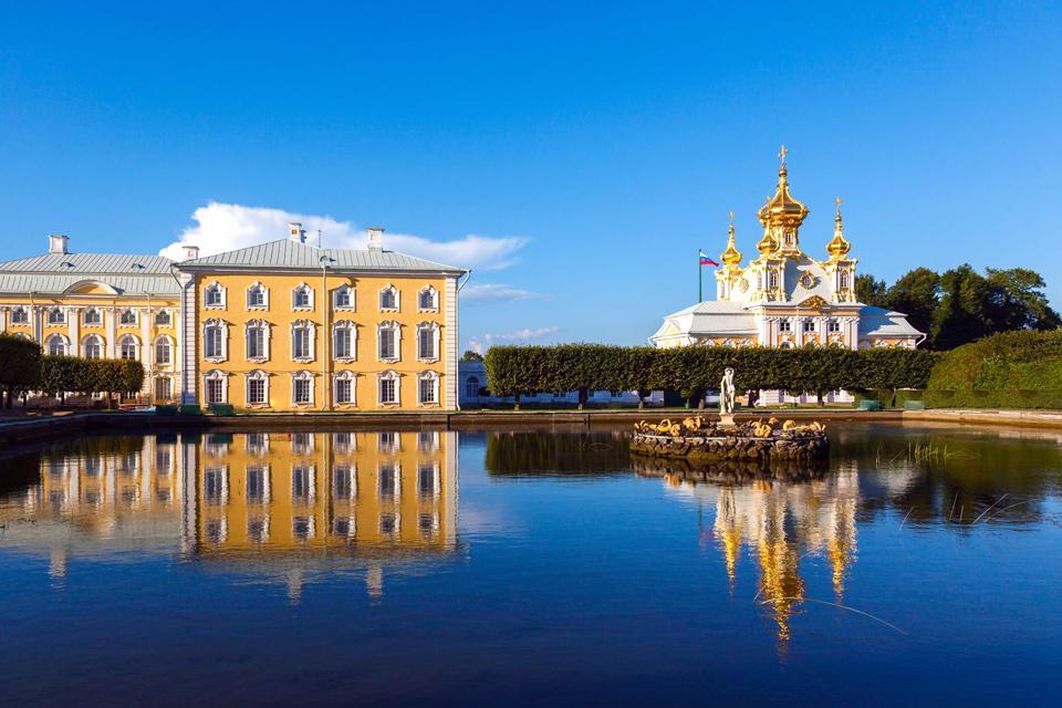 Le palais de Petrodvorets , Russie