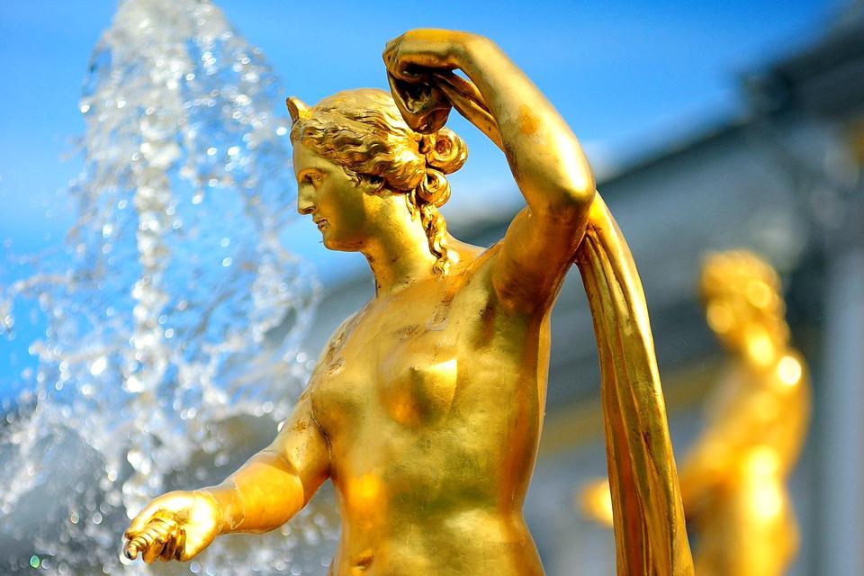 Le palais de Petrodvorets , Fontaine dorée , Russie