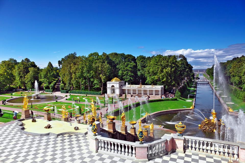 Le palais de Petrodvorets , Petrodvorets , Russie