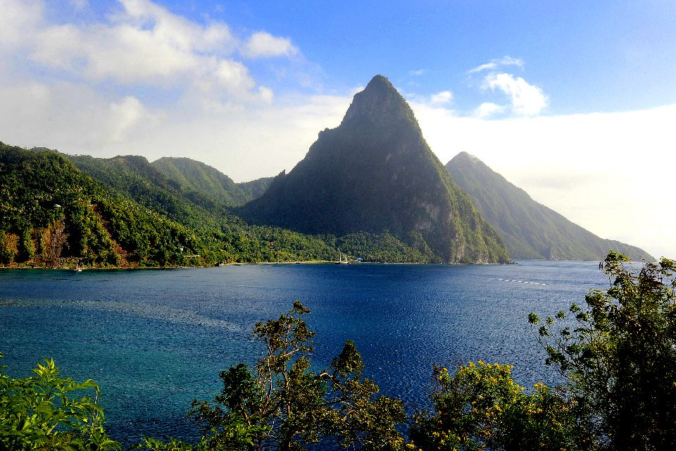 The Pitons , The two UNESCO-listed Pitons. , St Lucia