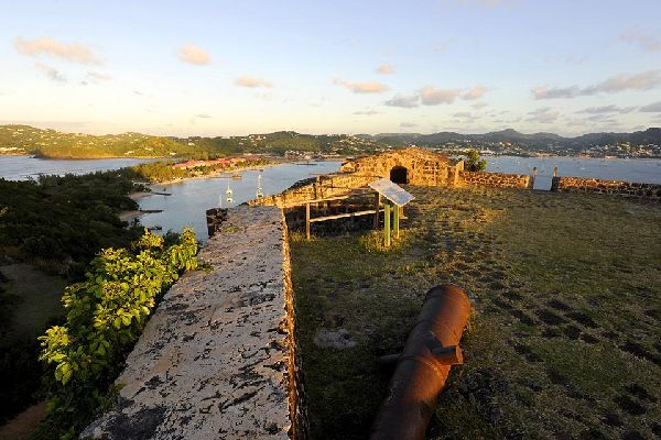 The historic Pigeon Island national park , Pigeon Island National Park , St Lucia