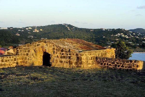 The historic Pigeon Island national park , Fort Rodney on Pigeon Island , St Lucia