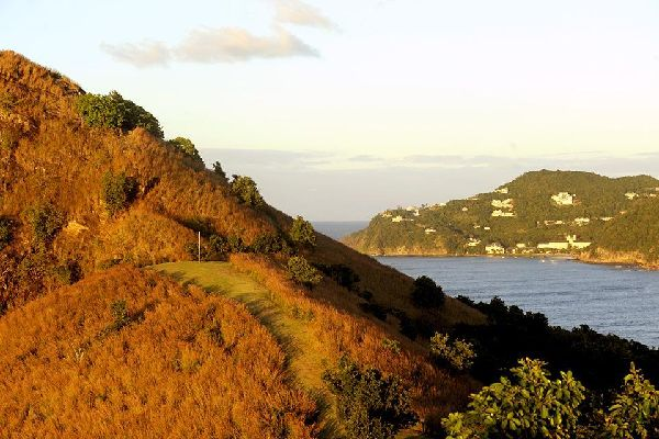 The historic Pigeon Island national park , A stroll on Pigeon Island , St Lucia