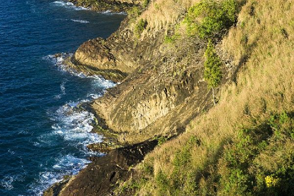 The historic Pigeon Island national park , Nature on Pigeon Island , St Lucia