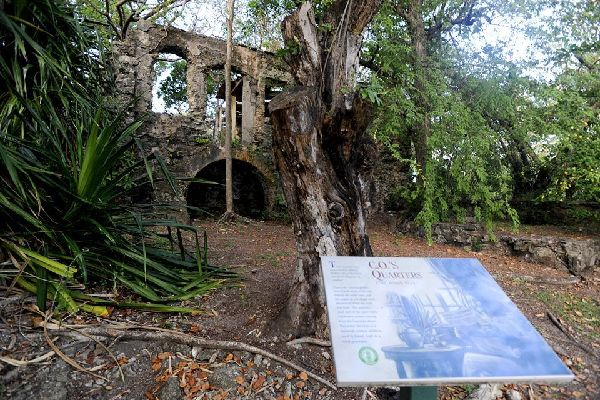 The historic Pigeon Island national park , The history of Pigeon Island , St Lucia