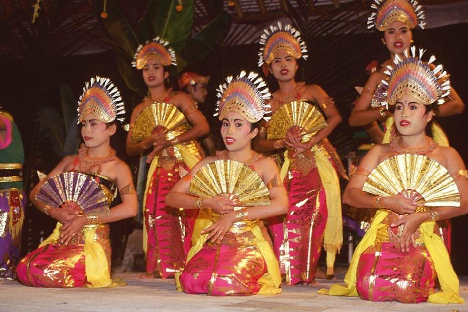 Gli spettacoli , Danze a Ubud , Indonesia
