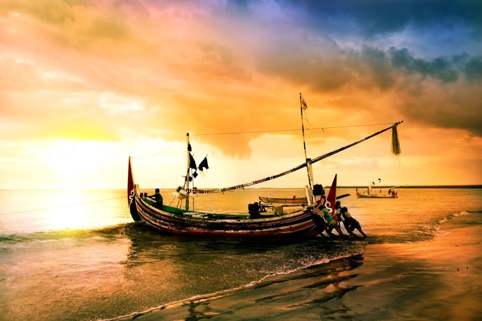 Cox's Bazar , Der Strand von Cox's Bazar , Bangladesch