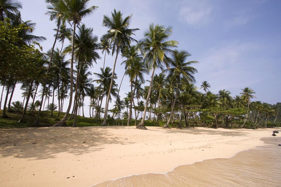 Les plages de Príncipe , São Tomé et Principe