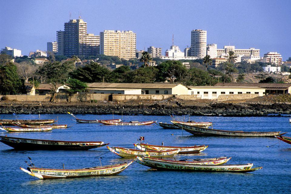 Les paysages, cap-vert, afrique, dakar, ville