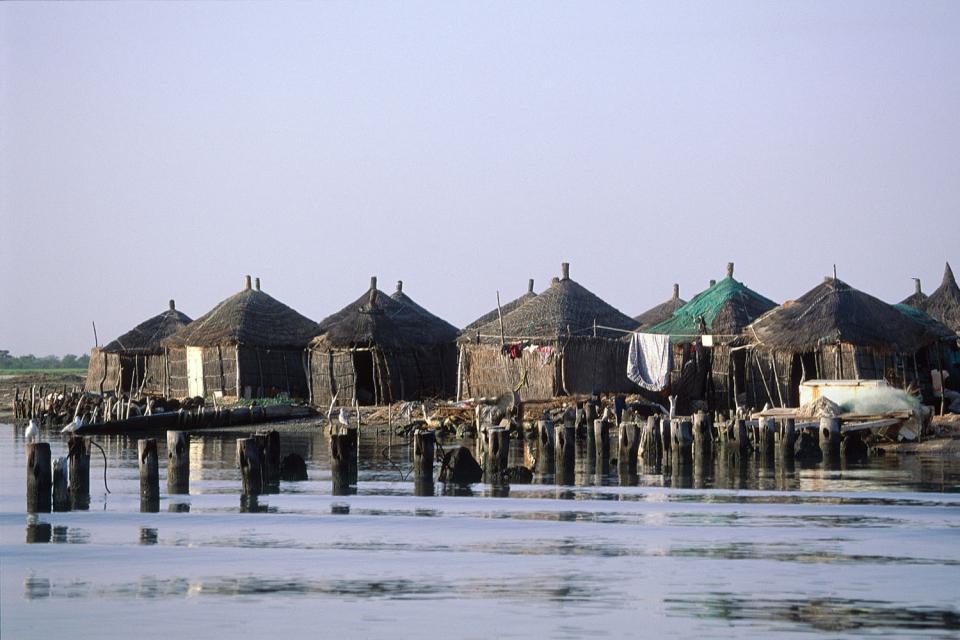 Il delta del Sine-Saloum , Villaggio di pescatori , Senegal