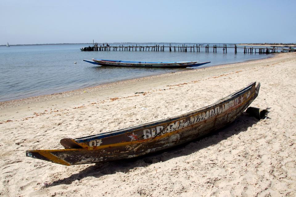 Il delta del Sine-Saloum , Imbarcadero al Sine-Saloum , Senegal