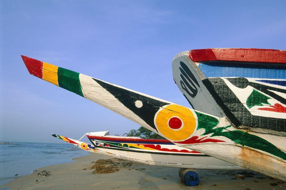 Traditional boats, Petite Côte, Coasts, Senegal