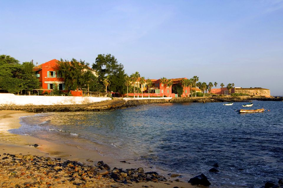 Die Insel Goree , Senegalesen am Strand , Senegal