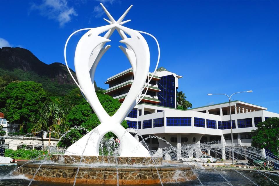 Mahé , Monumento de la Unidad en Victoria , Las Seychelles