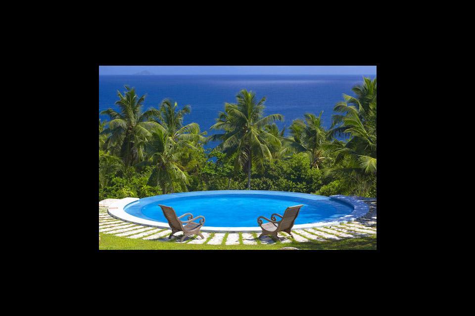 Frégate , Un baño con burbujas con vistas , Las Seychelles