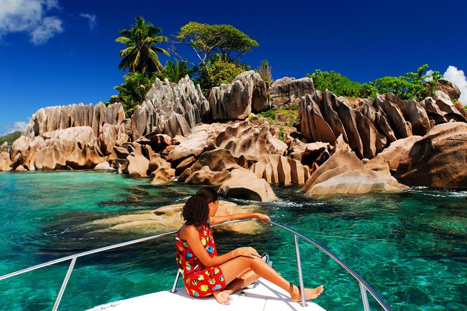 La Digue , Anse Source d'Argent , Las Seychelles