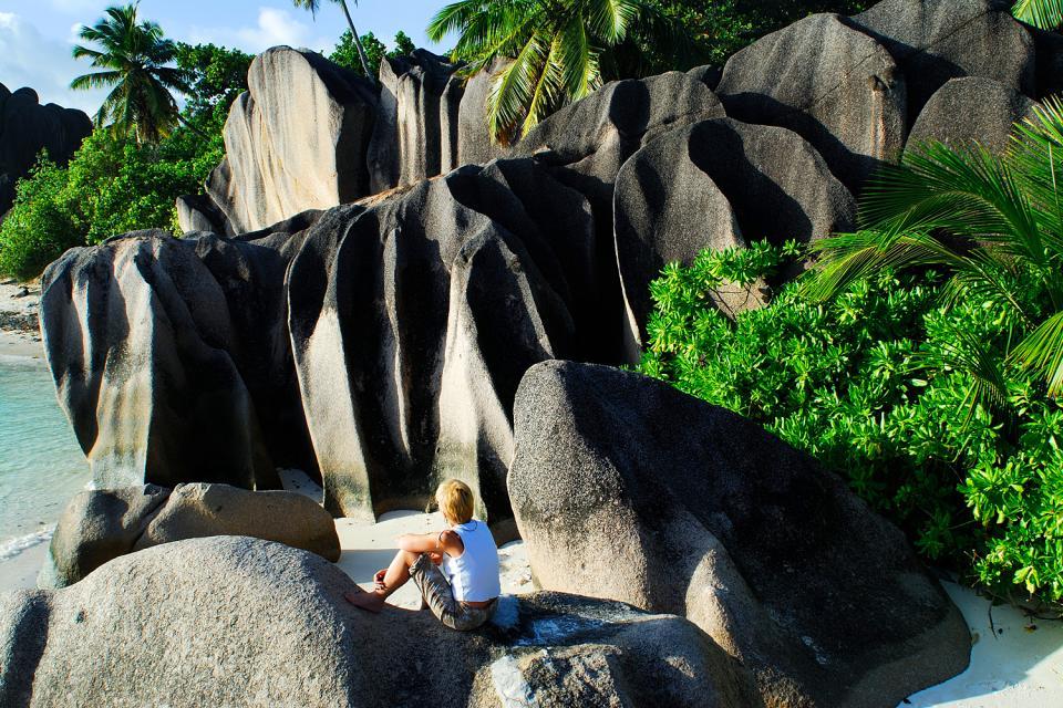 La Digue , Las famosas rocas de granito rosa , Las Seychelles