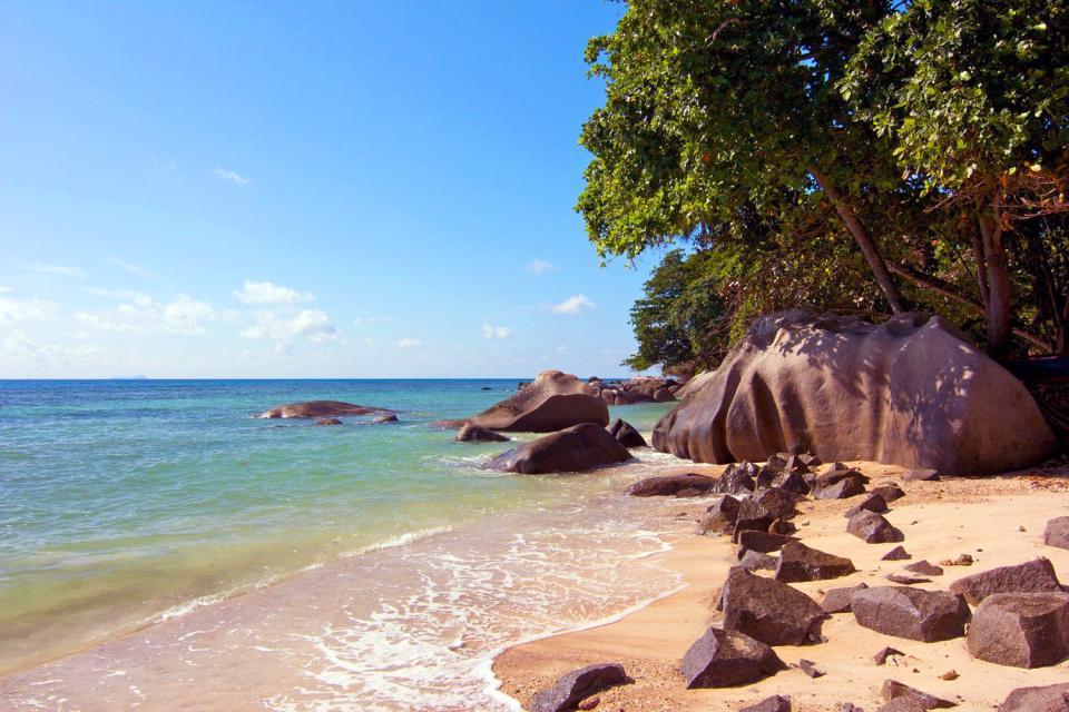Mahé , Las ensenadas , Anse de Beau Vallon Bay , Las Seychelles