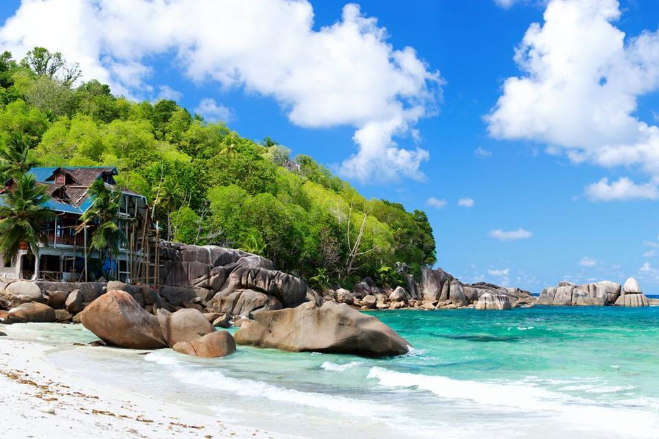 Mahé , Las ensenadas , Anse Takamaka , Las Seychelles