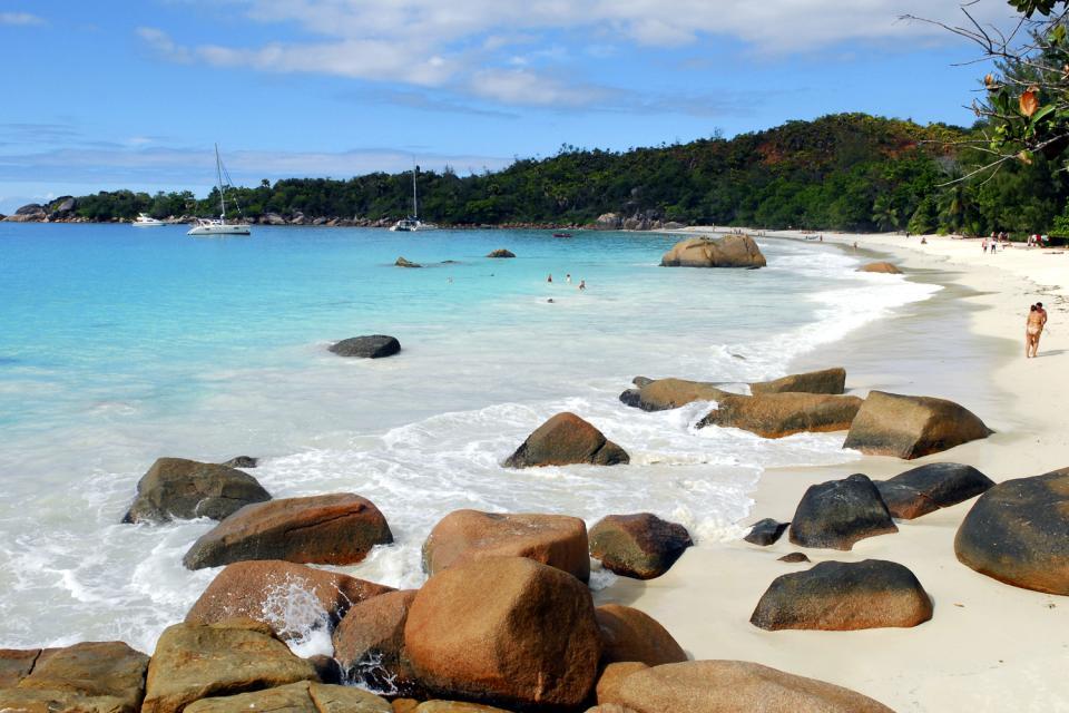Praslin , L'insenatura Lazio , L'accesso all'Anse Lazio , Seychelles