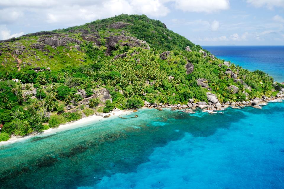 Praslin , L'insenatura Lazio , Una spiaggia incontaminata , Seychelles
