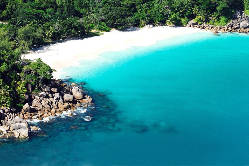 Praslin , L'insenatura Lazio , La spiaggia da cartolina , Seychelles