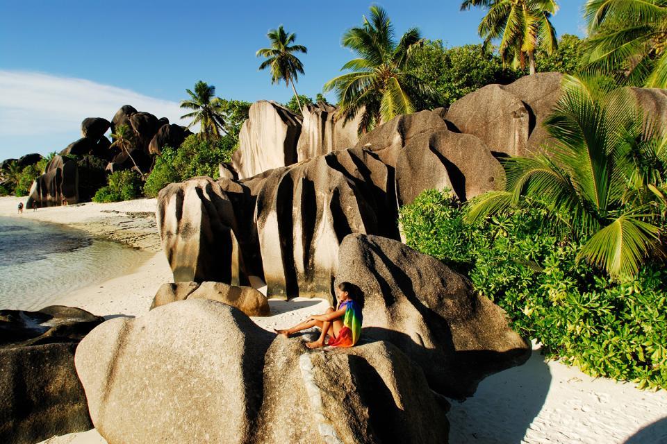 La Digue , Las playas de ensueño , Una playa poco apta para el baño , Las Seychelles