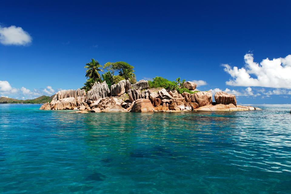 La Digue , Las playas de ensueño , Anse Source d'Argent en La Digue , Las Seychelles