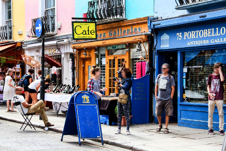 Les marchés de plein air , Marché de Portobello Road, Notting Hill , Royaume-Uni
