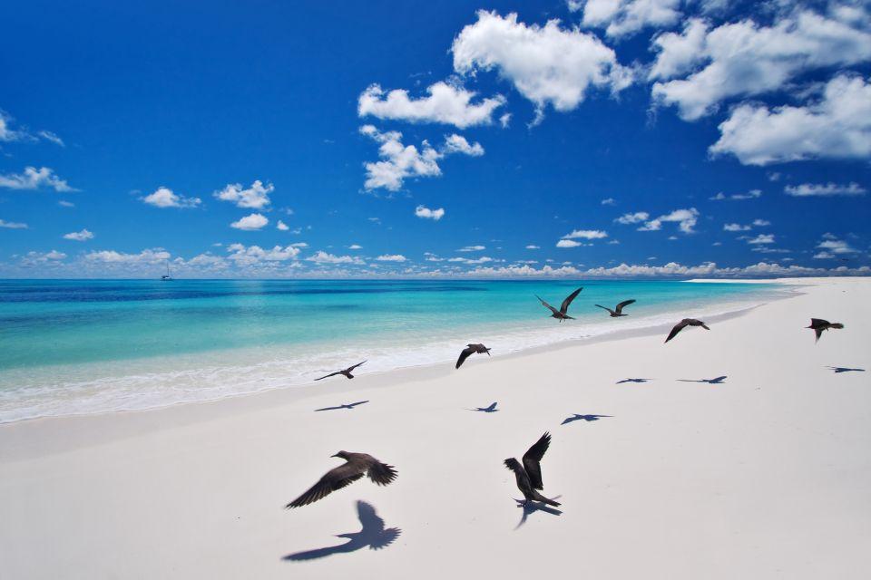 La isla de los pájaros, La isla Bird, Los paisajes, Mahé, Las Seychelles